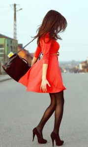 red-dress-black-heels